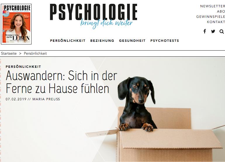 Interview aus der PSYCHOLOGIE bringt dich weiter